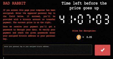 BadRabbit Malware Serang Rusia dan Ukrania