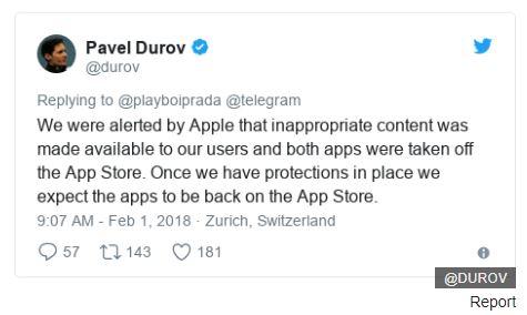 Apple Hapus Aplikasi Telegram dari App Store