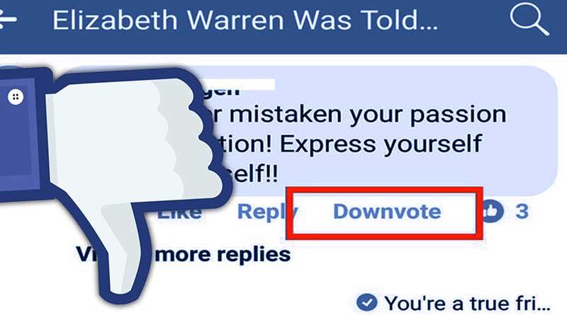 Facebook Luncurkan Tombol 'Downvote'!